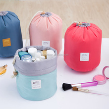 New Travel Makeup Cylinder Bag Cosmetic Pouch Handbag Toiletry Antique Case