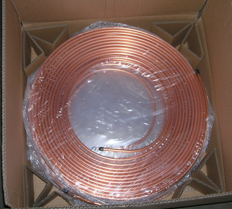 coiled copper pipe air conditioner copper coil pipe for air conditioning