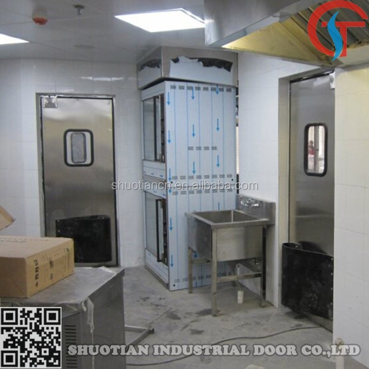 Stainless steel industrial swing door, commercial kitchen swing doors