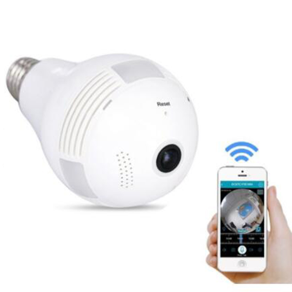 Panoramic Wireless Hidden Camera wall socket wifi hidden camera light bulb