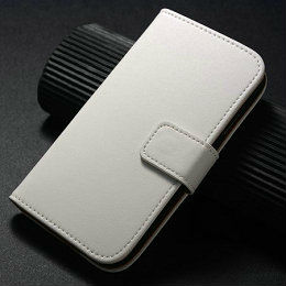 Luxury Genuine smooth flip leather case for samsung Galaxy s4 i9500 smart multi wallet case for i9500 with stand fuction