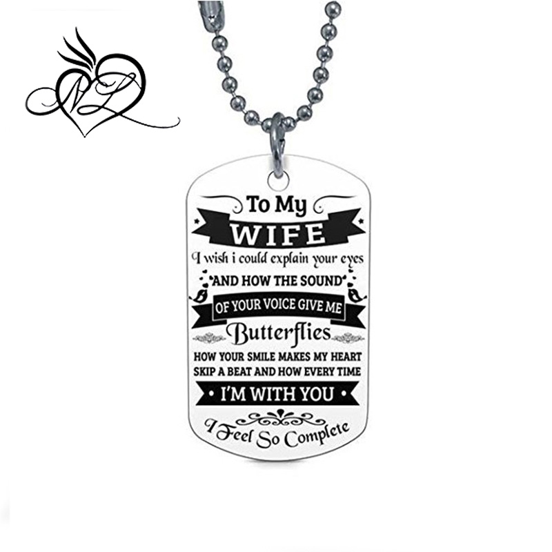 Dad To Son Dog Tag Necklace Military Men Jewelry Personalized Custom Necklace KL