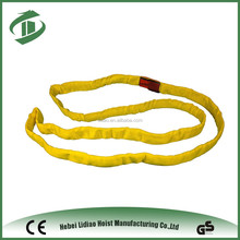 High quality yellow soft webbing sling sign endless cable sling