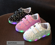 Fashion Led Kids Sneakers Children's Luminous Lighted Sneakers Boy/Girls Colorful LED lights Children Shoes sport shoes