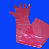 Veterinary Products Long Arm Gloves Plastic