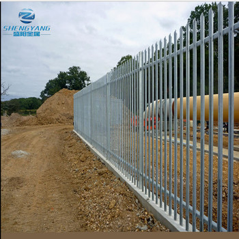 2.4m high boundary wall galvanised W section Security steel Palisade Fencing