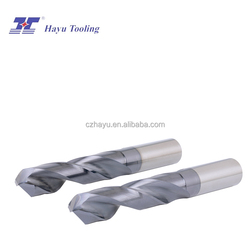 Tungsten carbide square hole drill bits with coating for hardened steel