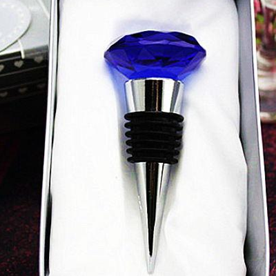 k9 Clear diamond crystal wine stopper, glass wine bottle stopper