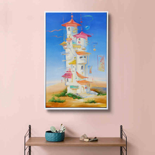 China Home Decor Wholesale Stretched Canvas Painting Wall Clock for Nordic Kids Decor