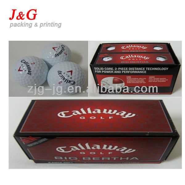 Nice printing custom golf ball packaging box