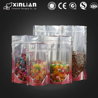 china new products colored aluminum foil printing bag with ziplock plastic packaging bags for food