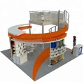 Detian Offer double deck trade show booth displays stall design trade show exhibition booth rental