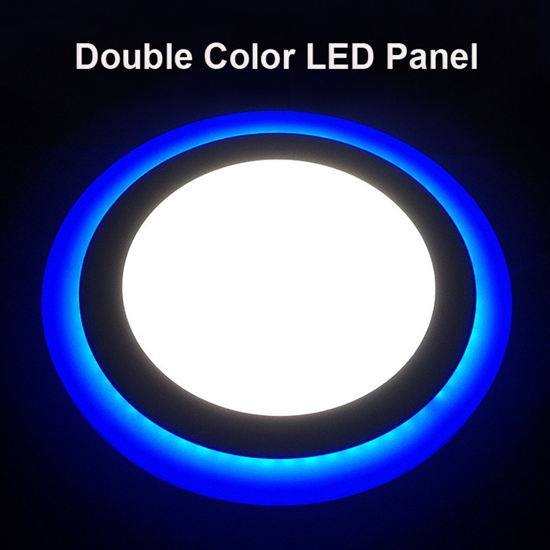 Trade Assurance White Blue panel led light Mounted Ultra Thin Round led panel ceiling light for housing