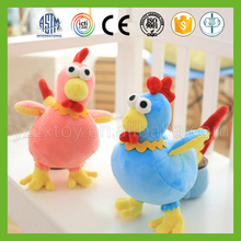 Promotional safe pink stuffed plush chicken toy for new year