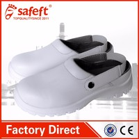 White anti slip hospital shoes, nurse clogs