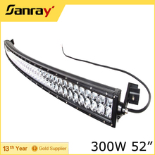 52 inch 300W 4x4 Led Car Light, Off Road Curved Led Light Bar