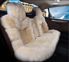 Excellent quality OEM Cheap fur sheepskin car seat cover