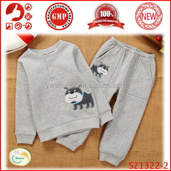 Cheap bulk wholesale kids clothing for children soft cotton baby boy clothes sets winter kids clothing sale