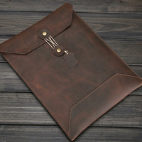 Vintage Leather Laptop Bag Men Genuine