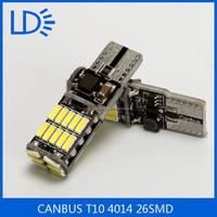 DC12V T10 4014SMD 26LEDS Decoration Light Ultra Bright License Plate Lamp Auto LED Width Light Lamp Bulb for Toyota Suzuki
