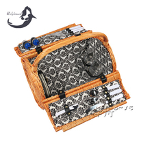 2016 natural handmade wicker empty wholesale picnic basket
