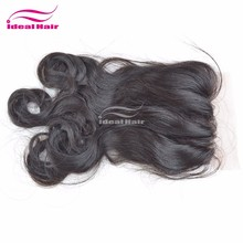 Ideal wholesale 100% indian human virgin hair lace closures