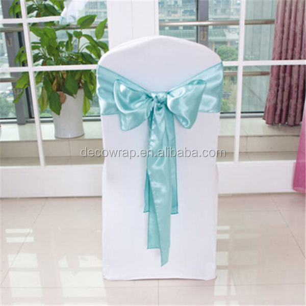 Wholesale Fancy Colorful Satin Chair Sash Wedding Chair Sashes Banquet Chair Sash