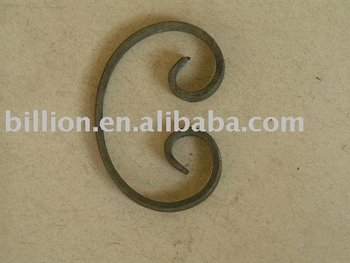 forged iron C scroll