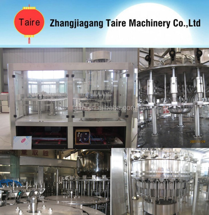 Automatic 3-in-1 carbonated beverage filling machine/gas drink/equipment