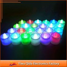 wholesale christmas led lights candles Led Candle Shape Plastic light 6 Colors Flickering Flameless