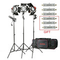 3*800W Red Head light Kit Illuminazione redhead Studio Continuo Kit Luci RED HEAD 2400W
