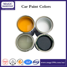 Automotive paint color chart with standard white automotive paint for cars