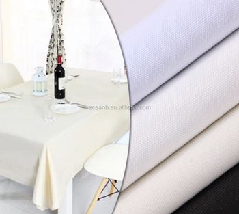 100% Linen Embroidery Pattern Table Cloth