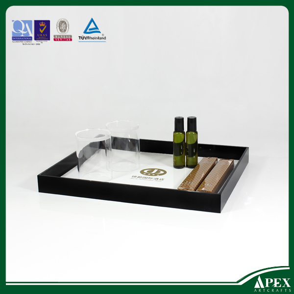 Wholesale lucite tray , hotel bathroom amenities tray
