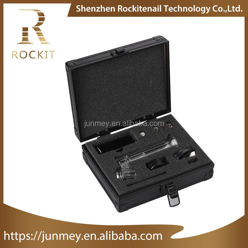 Newest Wax/oil vaporizer Rockit portable enail with 510 threading mods can fit for Rockit 40w or other 40w + box mod