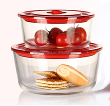 4-Pack Glass Food Storage Containers for Kitchen, Airtight Lids
