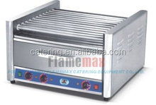 Commercial electric roller food warmer for hot dog