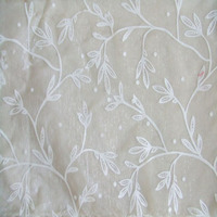 Organza Flocking Fabric