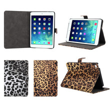 Fashionable Leopard PU Leather Flip Case for iPad Mini 4, Paypal Acceptable