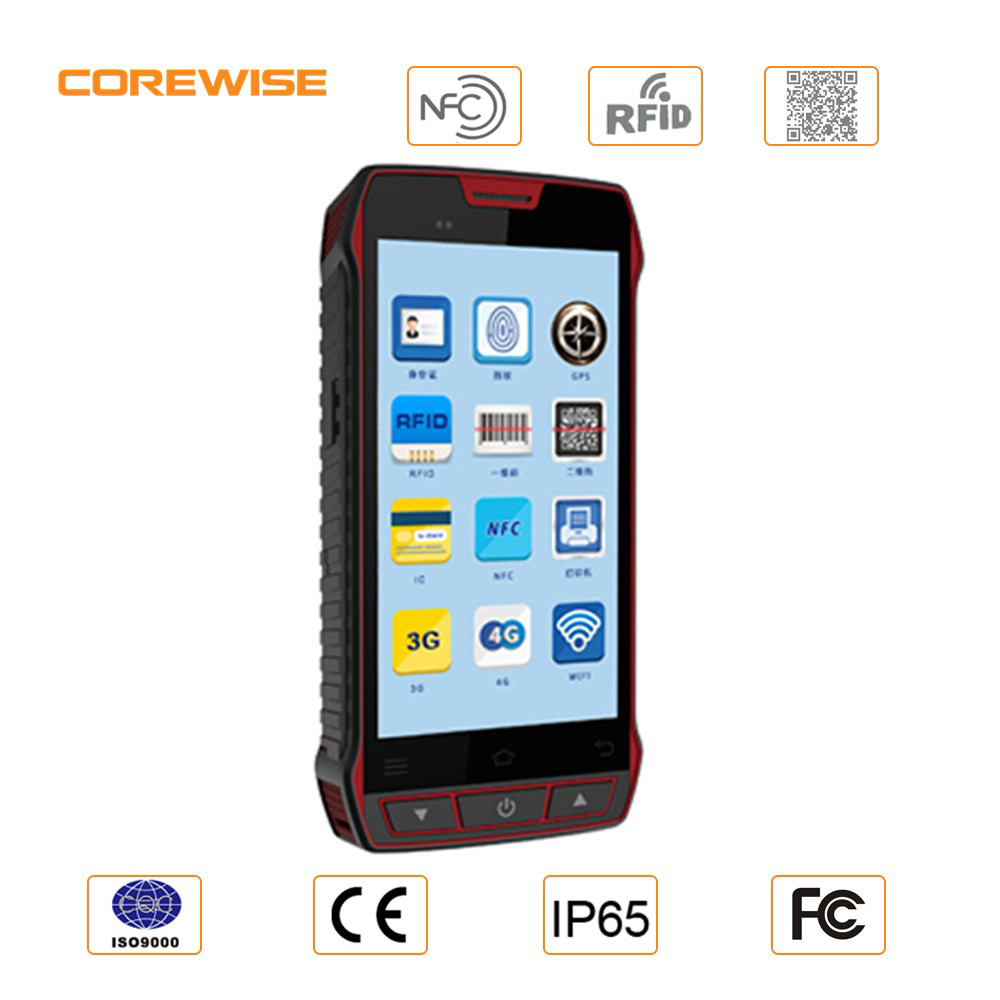 5 inch android touch screen pda sunlight readable with rfid, sim card for tracking fugitives