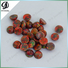 Synthetic Flat Round Shape Unset Fire Opals For Sale
