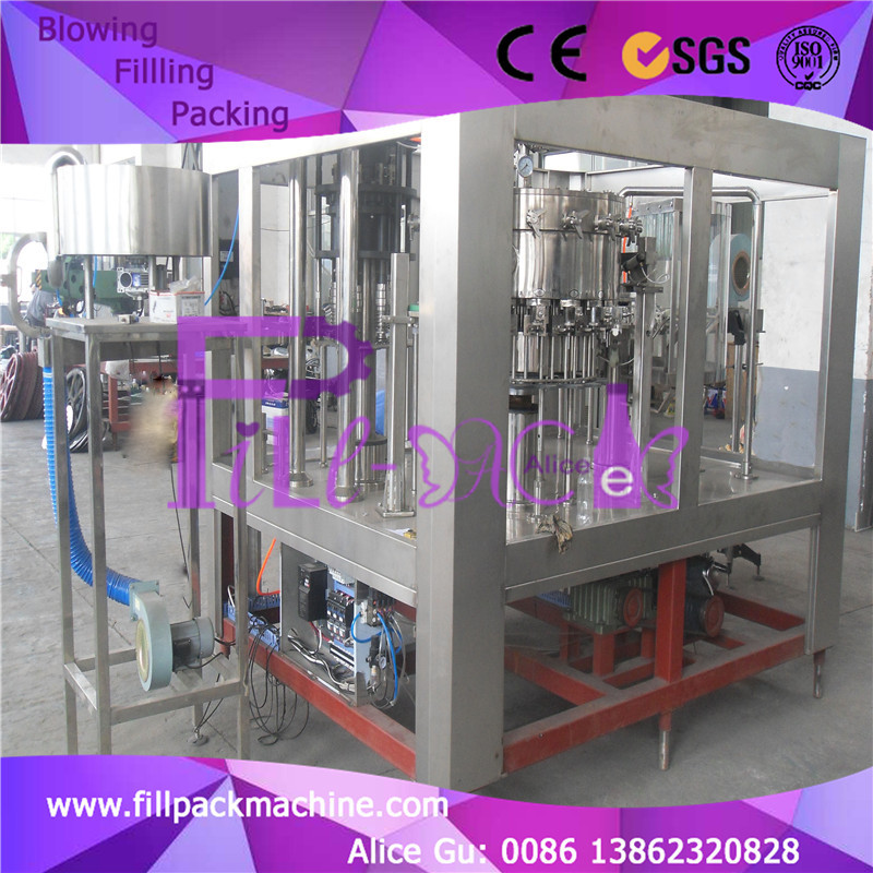 Full automatic PLC control 0.4Mpa filling pressure Bottle soda bottling machine