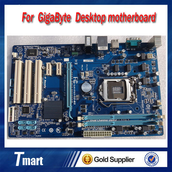 100% original Free shipping desktop motherboard for Gigabyte GA-P61-S3-B3 P61 LGA 1155 DDR3 RAM 16GB mainboard
