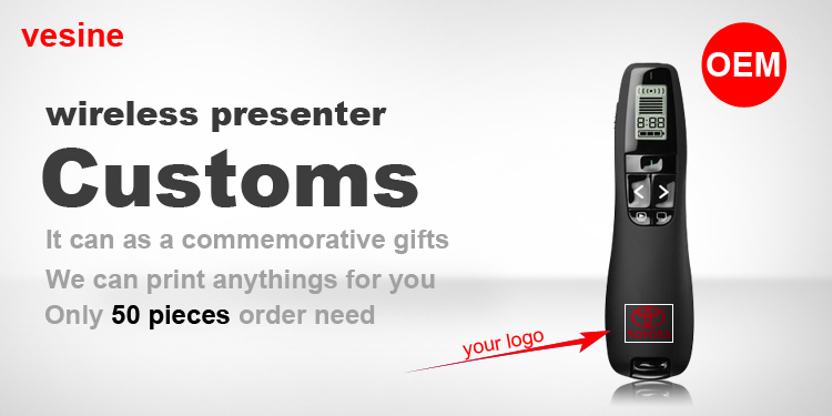 R800 Wireless Presenter with Laser Pointer 2.4GHz PowerPoint PPT Presentation Presenter Remote Control Laser Pointer