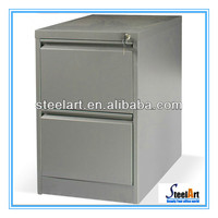 2 drawers grey used steel storage cabinets