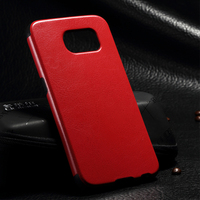 For Samsung S6 Leather Back Cover,High Quality PU Leather Skin Plastic Phone Case for Galaxy S6