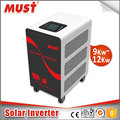 MUST factory 12vdc 24vdc 48vdc ac 110v 220v solar power inverter hybrid 12kw 9kw