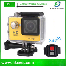 W9R Mini Camcorders WIFI 1080P Full HD DV Action Outdoor Cam Waterproof Sport Camera with 2.4G Wireless Remote Control