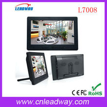 7 inch TFT LCD monitors with full-function IR remote control