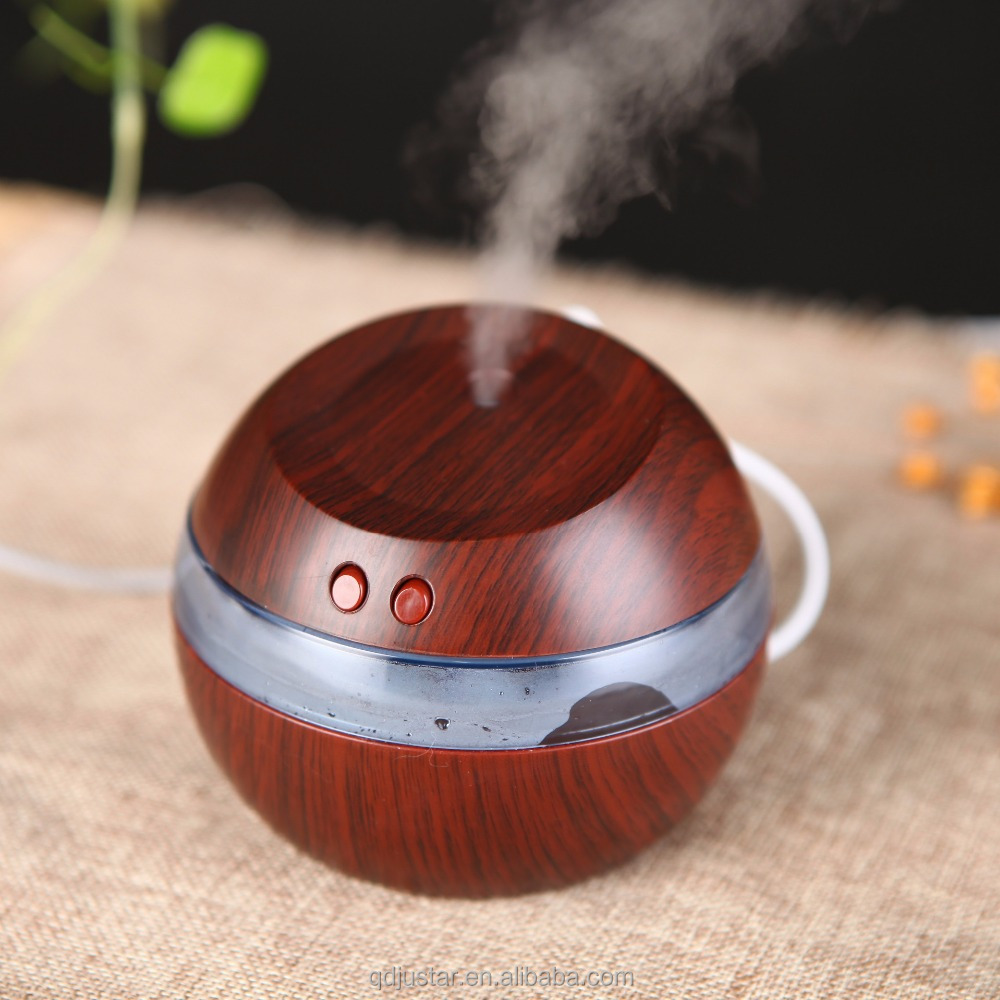 Good quality wood grain surface humidifier Essential oil water air humidifier for wholesale